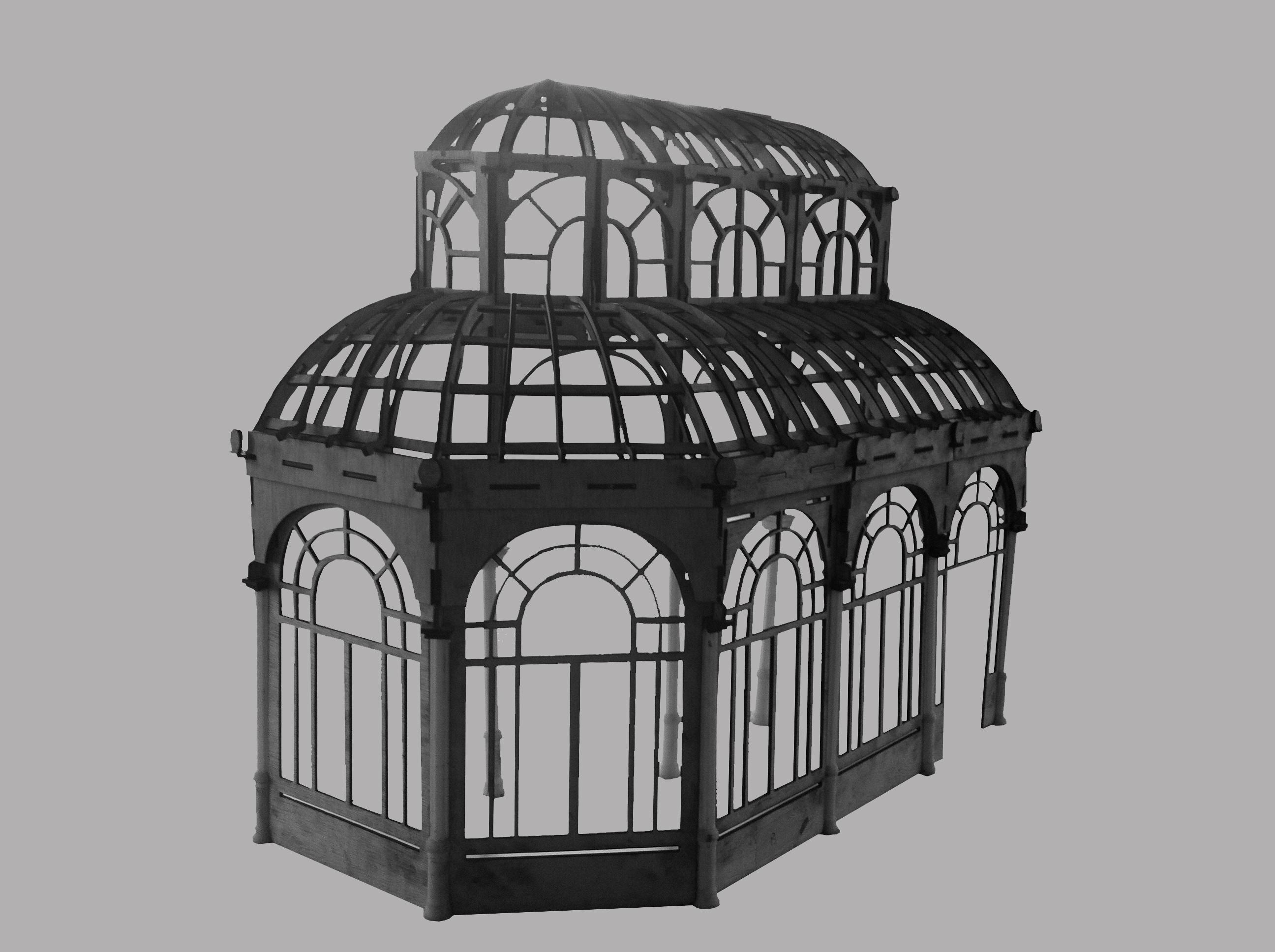 Maqueta sección Palacio de cristal del retiro (Madrid)