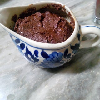 Chocolate Molten Lava Cake - in the Microwave!