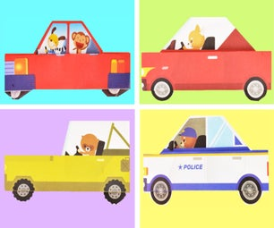 Paper Craft for Kids: Car, Jeep, Police Car / Just for Fun!