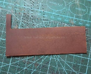 Prepare the Tassel Leather Like Picture. You Can Adjust the Length of the Leather, Leather Thinner Than 1.0mm (2.5oz) Is Better, Because the Tassel Won't Be Very Fat.