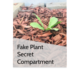 Secret Compartment in Fake Plant