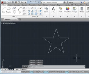 4 Essential Commands for Making Drawings in AutoCAD: Use Them to Draw a Star