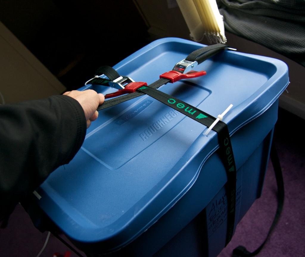 $25 Luggage from storage box