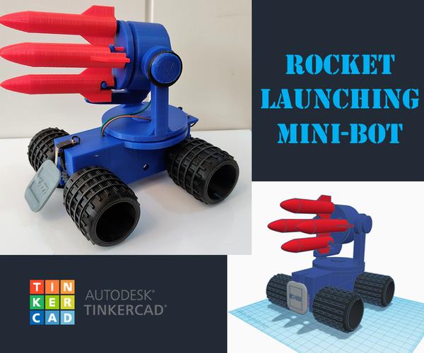 Tinkercad Robotics for School: Rocket Launching Mini-bot