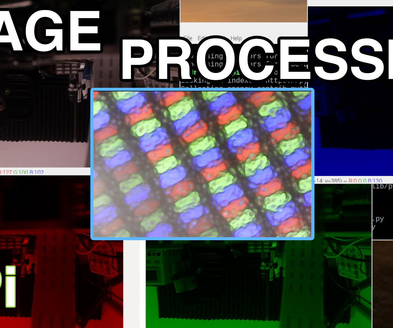 Image Processing With the Raspberry Pi : Installing OpenCV & Image Colour Separation
