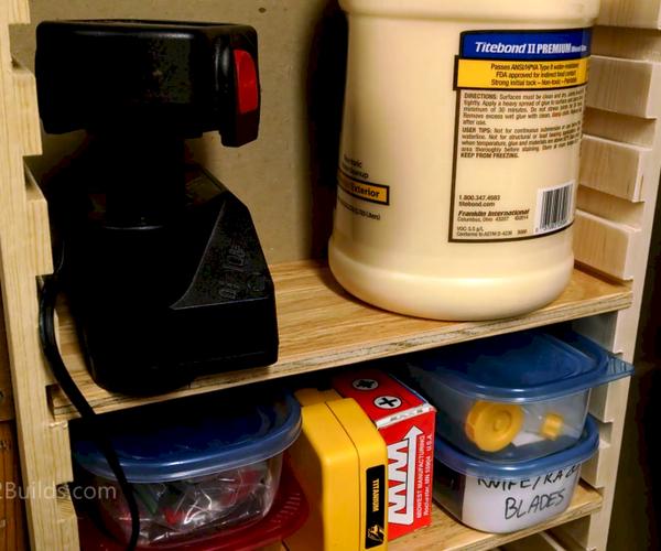 Simple Adjustable Shelves Between Wall Studs