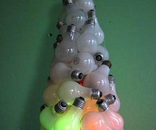Recycled Light Bulb Xmas Tree.