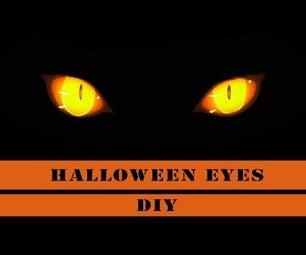 Halloween Glowing Eyes - DIY