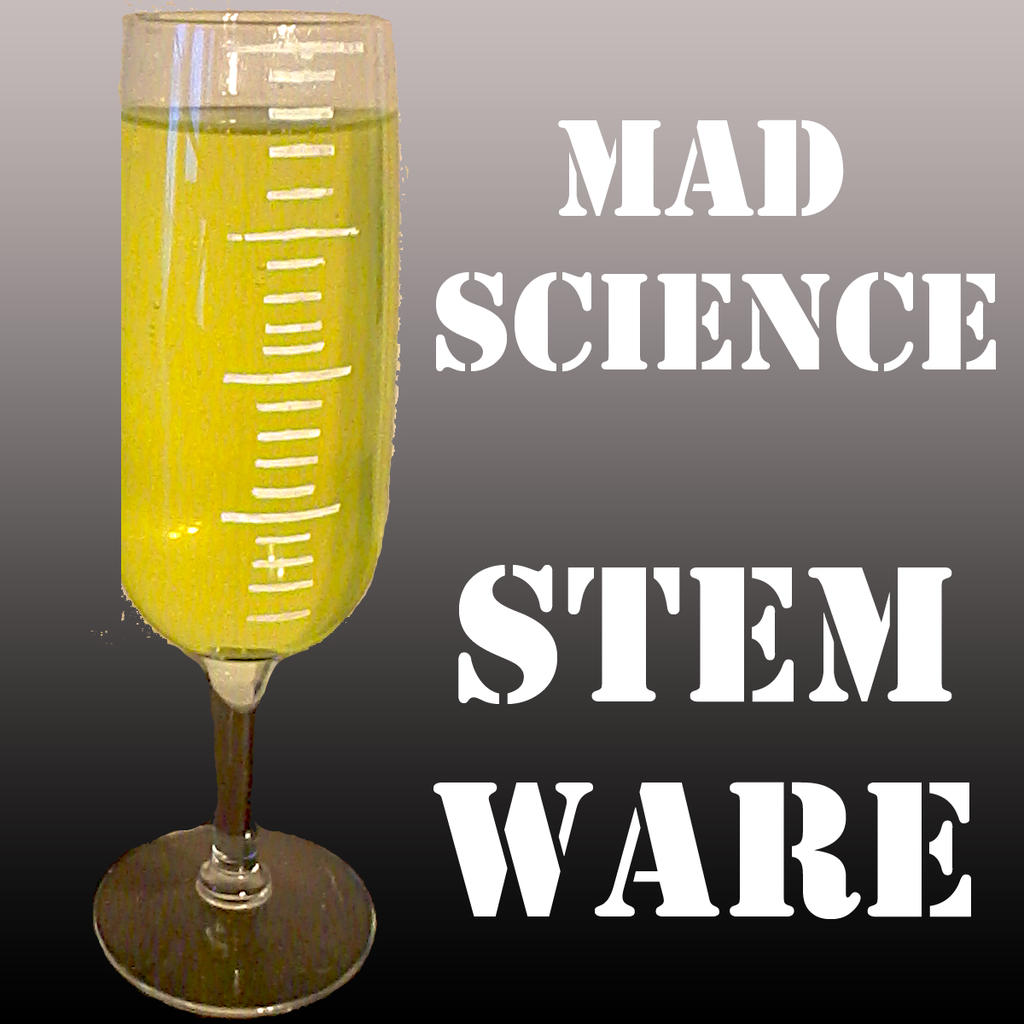 Mad Science Stemware Glasses