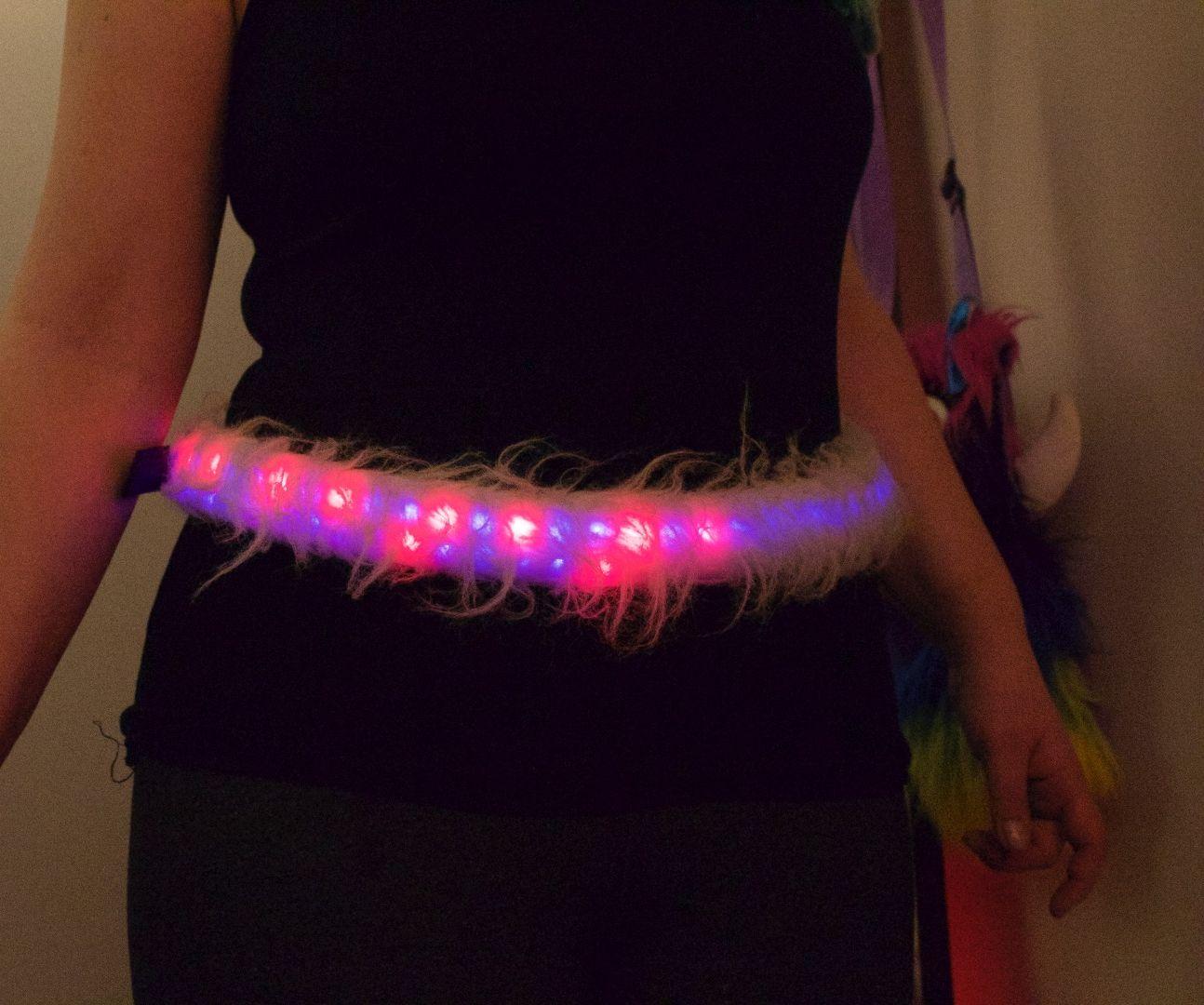 Interactive Fuzzy LED Belt