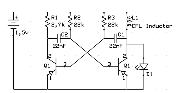 1,5V to LED Voltage Converter A.k.a. Joule Thief