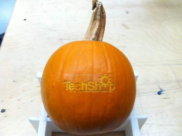 Laser Etched Pumpkin!