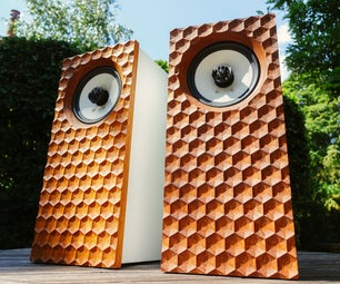 3D Hexagonal Dimple Hifi Speakers   CNC Front Baffle