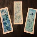 Watercolor Leaf Print Bookmarks