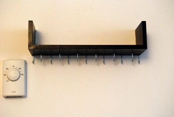 Wall-Mounted Necklace Organizer & Jewelry Shelf