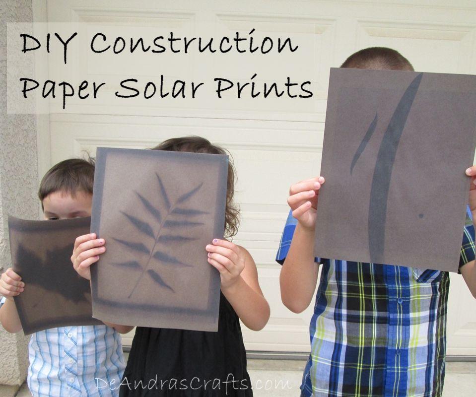 DIY Construction Paper Solar Prints