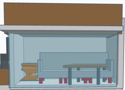 Making the Bedroom, Drawing Room and the Store Room