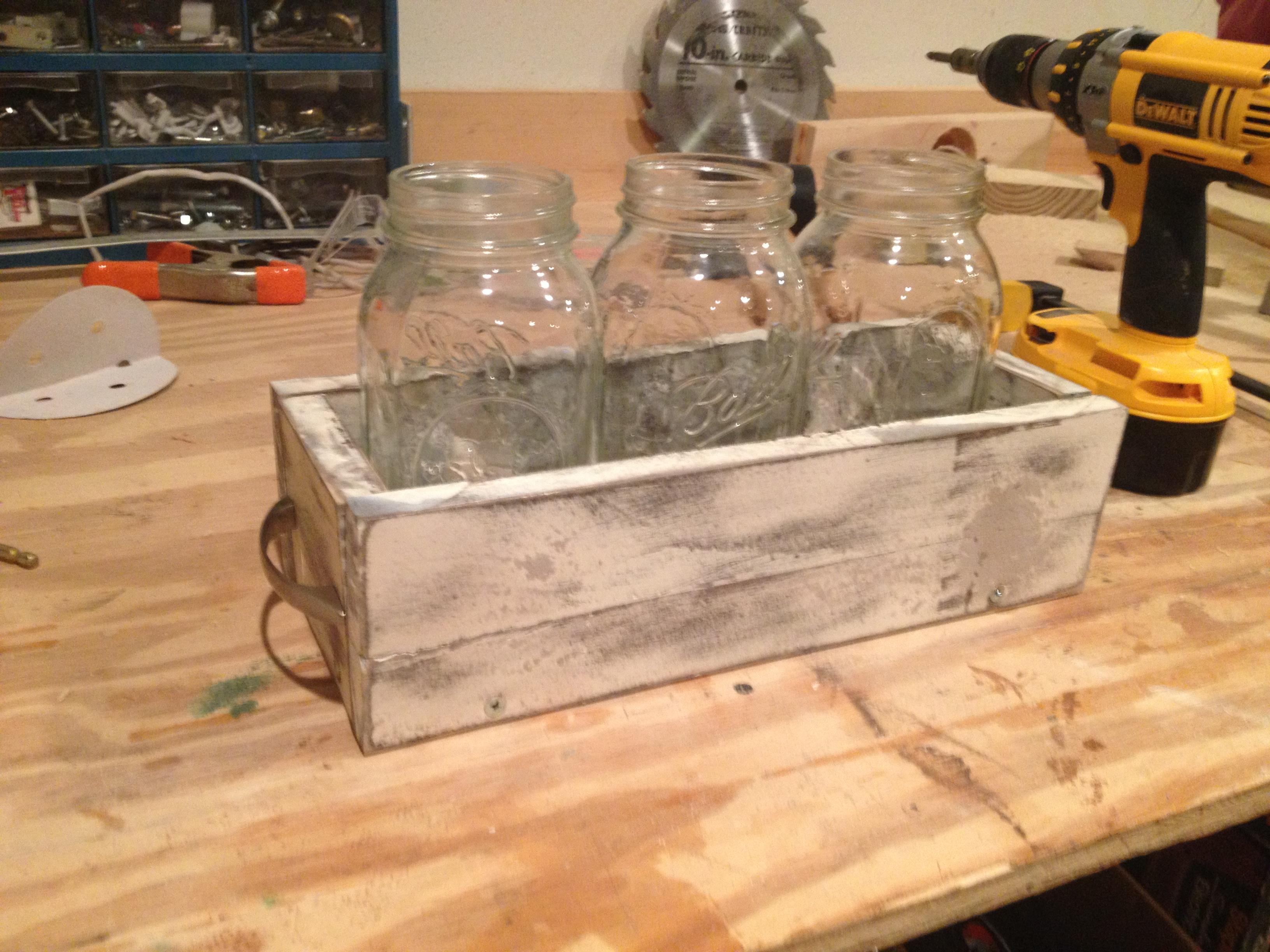 Weathered Mason Jar Holder