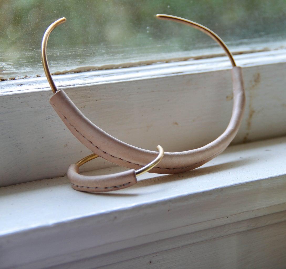 Leather Wrapped Brass Jewelry