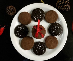 Eggless Peppermint Mocha Cookies (with Whole Wheat)