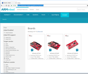 IoT Base Platform With Arm MBED, WIZwiki-W7500 : EchoServer