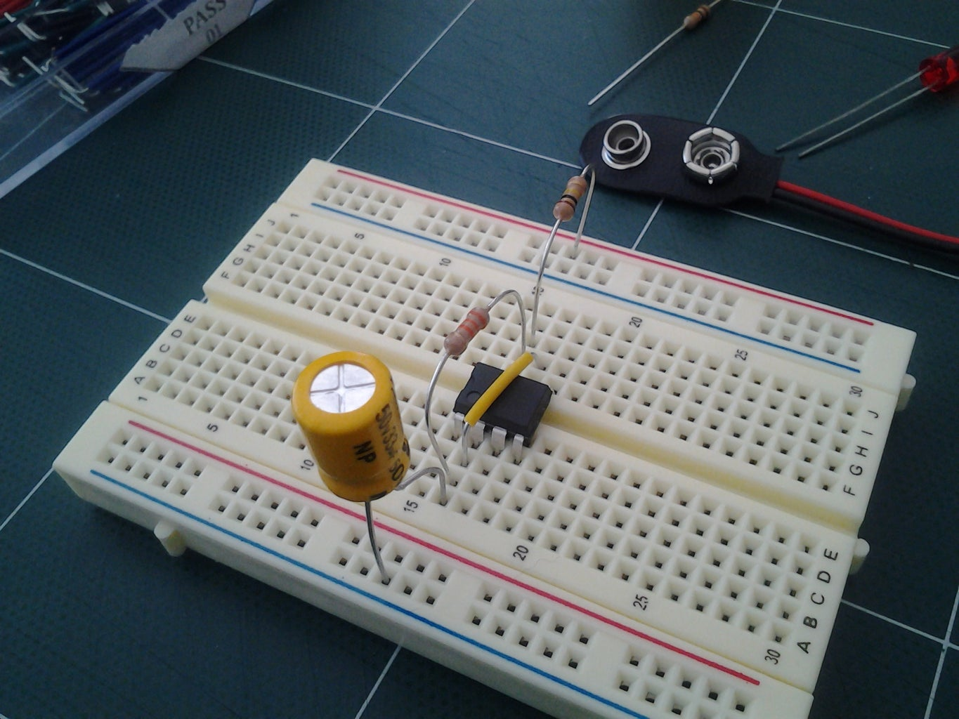 Add in the Capacitor