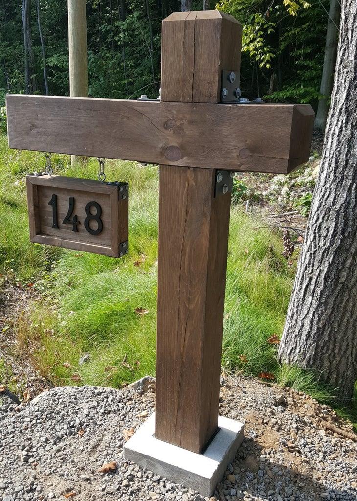 Timber Address Post