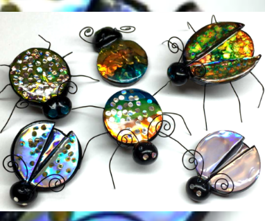 Polymer clay Jewel bugs