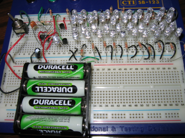 41 LED Flasher Circuit using 555 IC