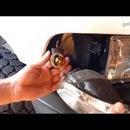 HOW TO REPLACE TURN SIGNAL BULB  DODGE RAM  FRONT CORNER BLINKER REPAIR INDICATOR LIGHT FIX LED 3156