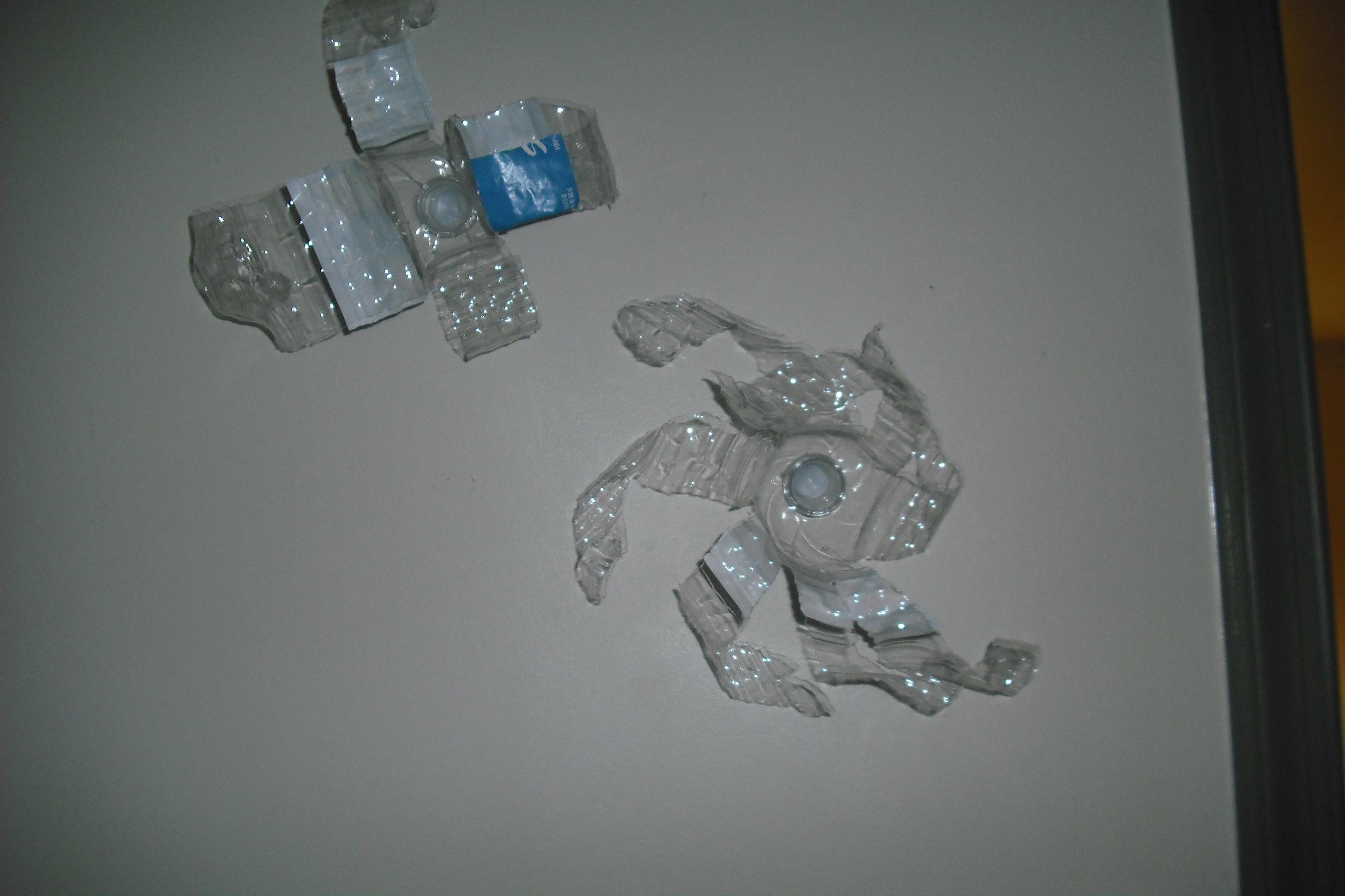 Plastic bottle wall art