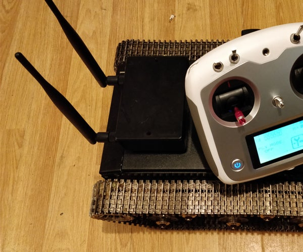 Rugged Remote Tracked Chassis Surveillance Bot
