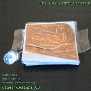 Other Designs_8: the CPA Lemon Battery