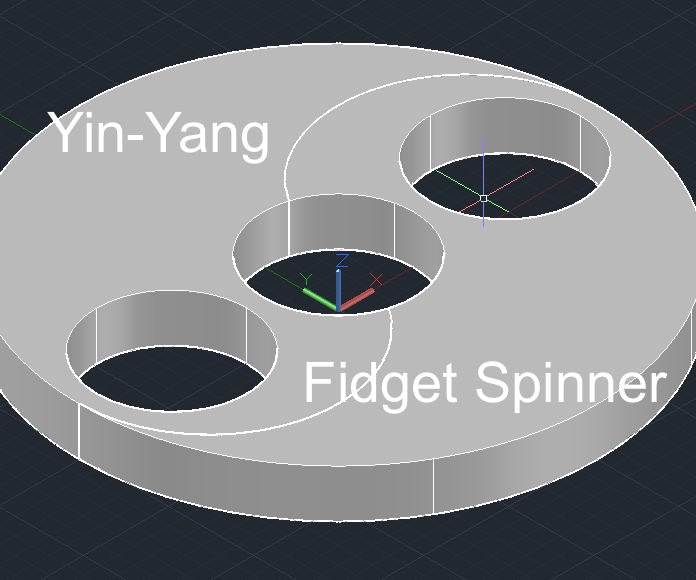 3D Printed Yin-Yang Fidget Spinner
