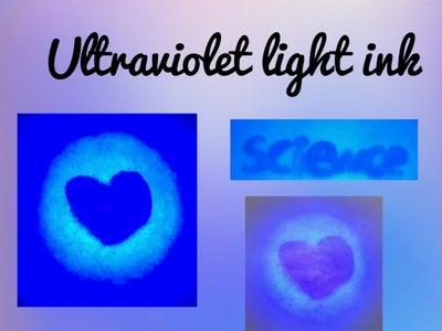 How to Make UltraVIOLET Light Ink