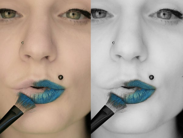 Selective Colour in Black and White Images Tutorial