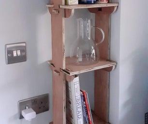 胶合板迷你厨房书架