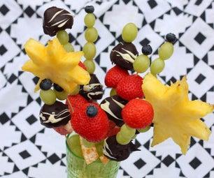 如何制作水果花束