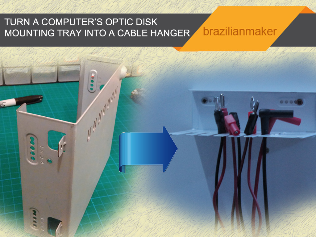 Turn your optic disc reader tray into a cable hanger