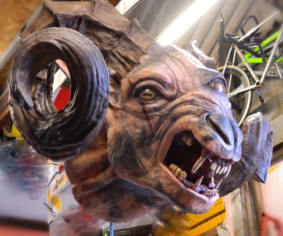 The Witcher 3 Full-Scale Chort/Fiend Sculpture in DAS clay