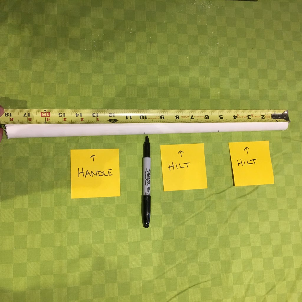 Measure the Sword Hilt and Handle