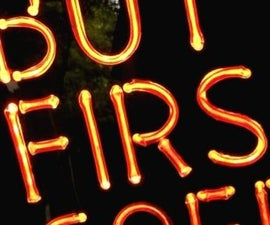 How to Make a Realistic Faux Neon Sign - Super Bright!