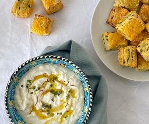 Pogácsa和乳酪蘸酱