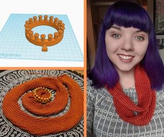 3D-Printed Loom Knit Scarf