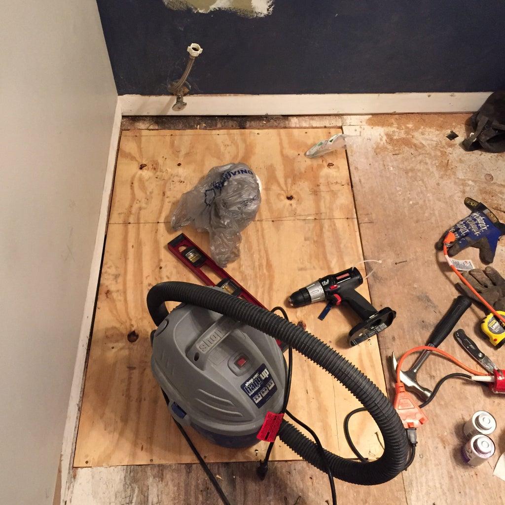 Repair Subfloor and Replace Toilet Flange