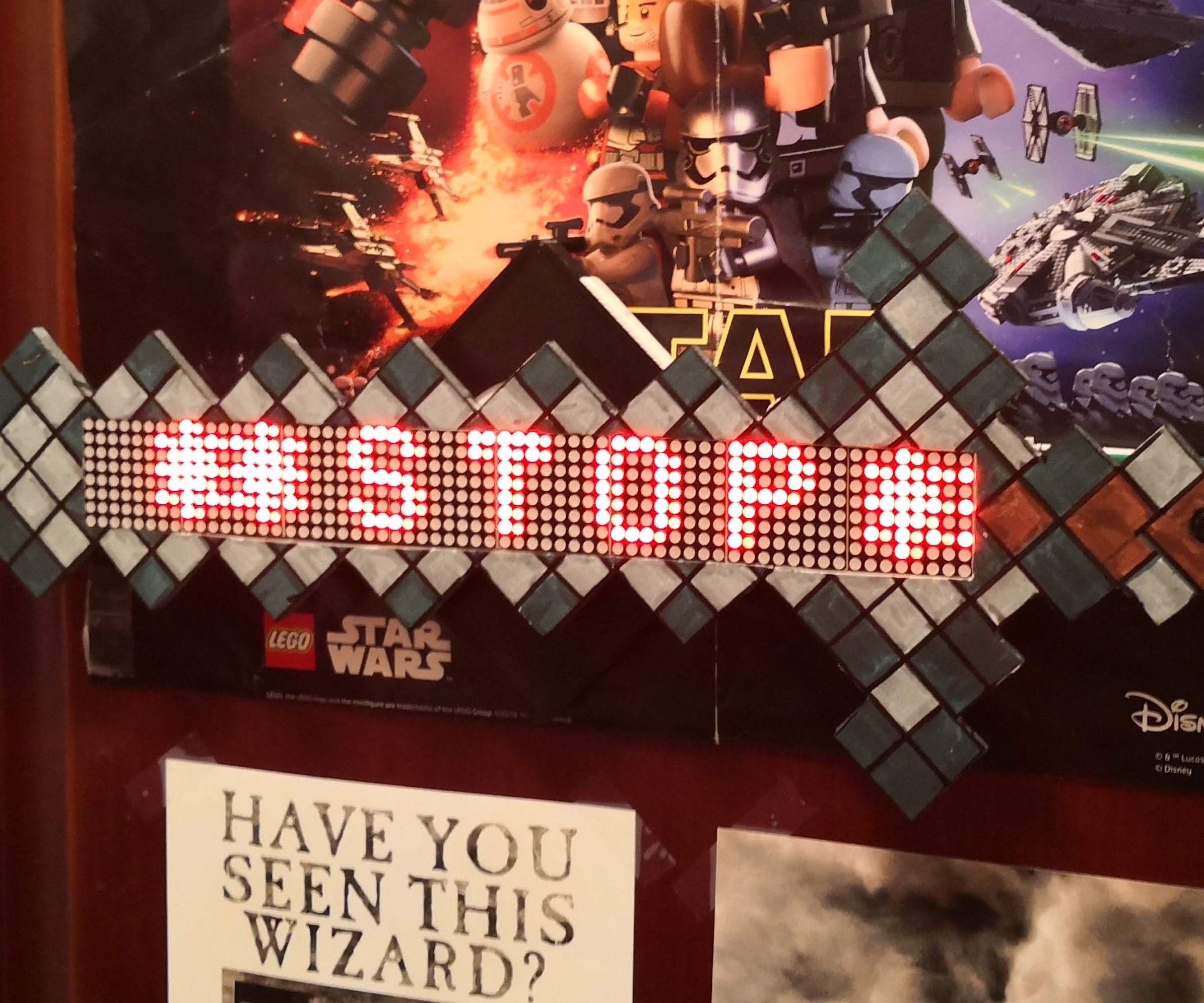 Interactive Minecraft Do Not Enter Sword/Sign (ESP32-CAM)