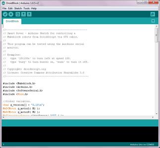 Program the MakeBlock Orion (Arduino Uno) Board