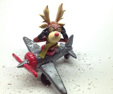Reindeer in the airplane