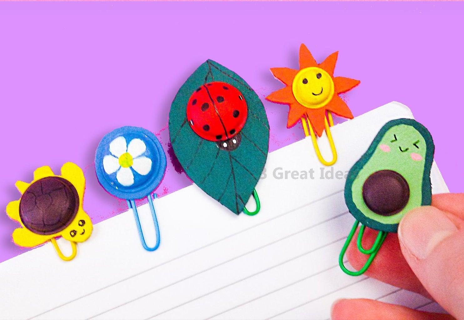 Diy 5 Cute Pop It Paperclips School Supplies