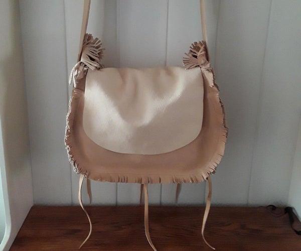 Leather Bag With Fringe Edges